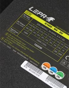 利豹1600W金牌电源