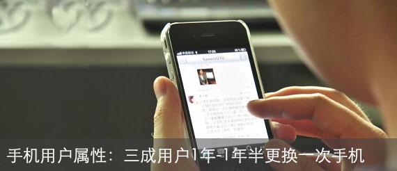 手机行业用户属性调查报告