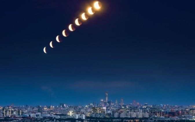 尼康相机月食拍摄全纪录