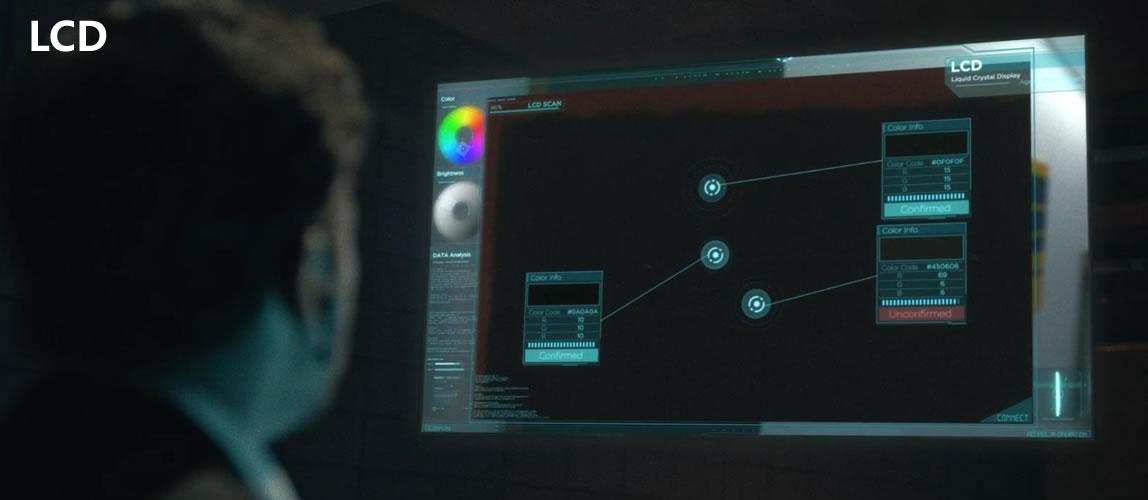 LCD屏混黑一片,暗部细节完全无法捕捉,让观看者毫无头绪