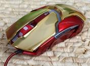 宜博钢铁侠3纪念版极光狂蛇游戏鼠标首测