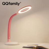 腾讯QQfamily儿童智能台灯K8E 学生学习书桌灯 腾讯儿童led灯卧室宿舍书房创意阅读灯 樱花粉