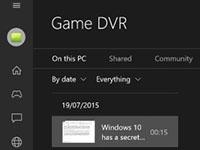 Win10游戏录像工具 支持屏幕录制