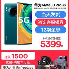 [12期免息咨询减500元]华为Mate30 Pro 5G手机官方旗舰