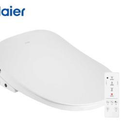 海尔(Haier)卫玺 智能马桶盖 电动坐便器盖 洁身器 紫外线杀菌 聚能洗 遥控旋钮双操控V6-5229U1