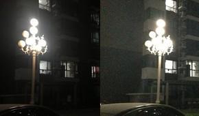 联想k900对决iPhone 5-夜景
