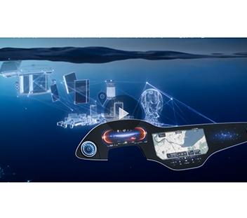 奔驰推出未来科技风 UX超级屏