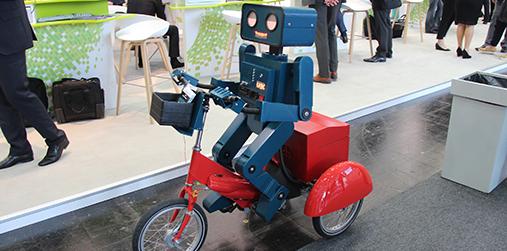 2号馆内的智能机器人
