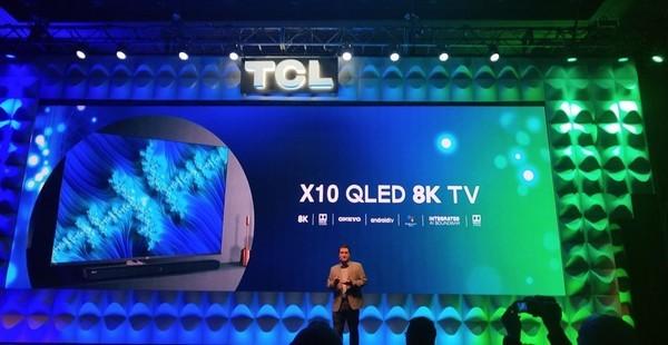 TCL抢先发布包括TCL X10 QLED 8K和8系列旗舰产品在内的最新人工智能8K电视机