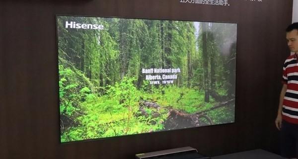 大屏4K视界 海信激光电视现身CES Asia