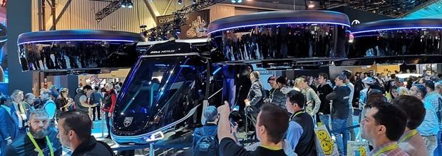 围观!自动驾驶直升机飞进了CES现场