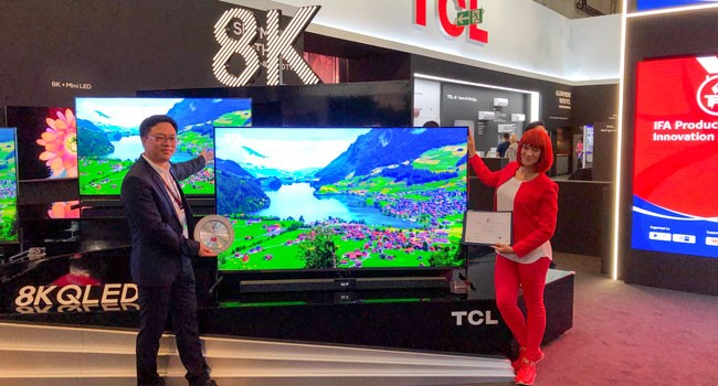 TCL Mini QLED 8K TV斩获金奖