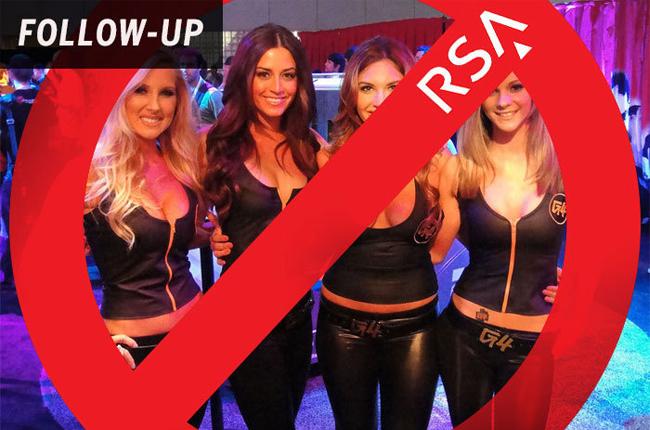 对不起 今年的RSA要跟展台美女说再见了