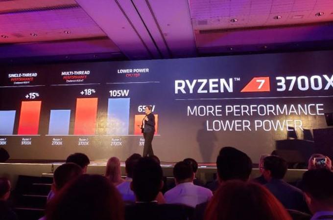 AMD 7nm锐龙台北发布 最高提升34% 稳!