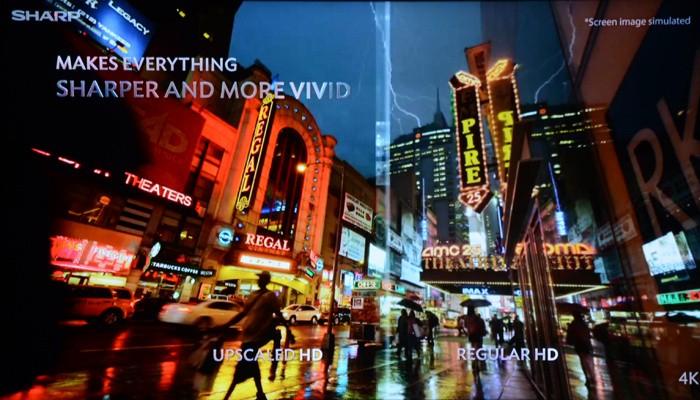 夏普4K超高清实拍画面