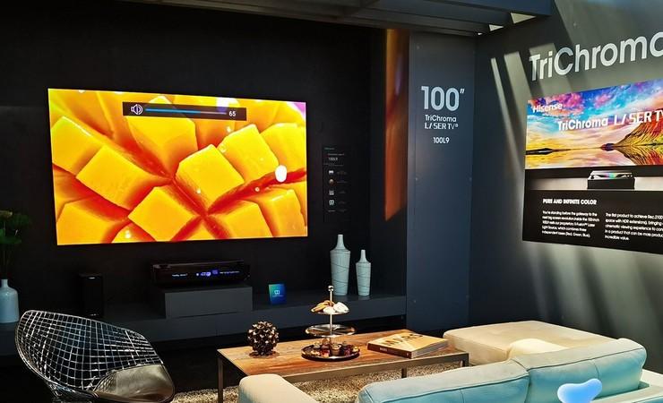 CES2020海信展示全色激光电视