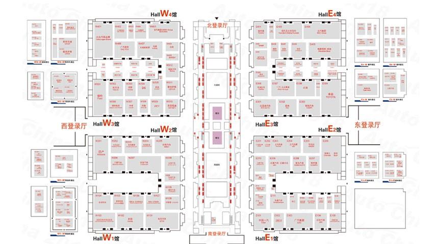 2018北京车展展位图总览