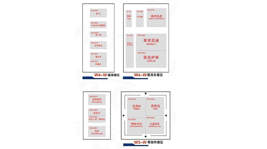 2018北京车展W3 W4零部件